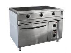 Плита электрическая 3-х конфорочная напольная с жарочным шкафом ПЭП-0,51М-ДШ-Н